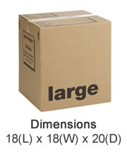 Large Cardboard Boxes - Lyme Bay Storage, East Devon